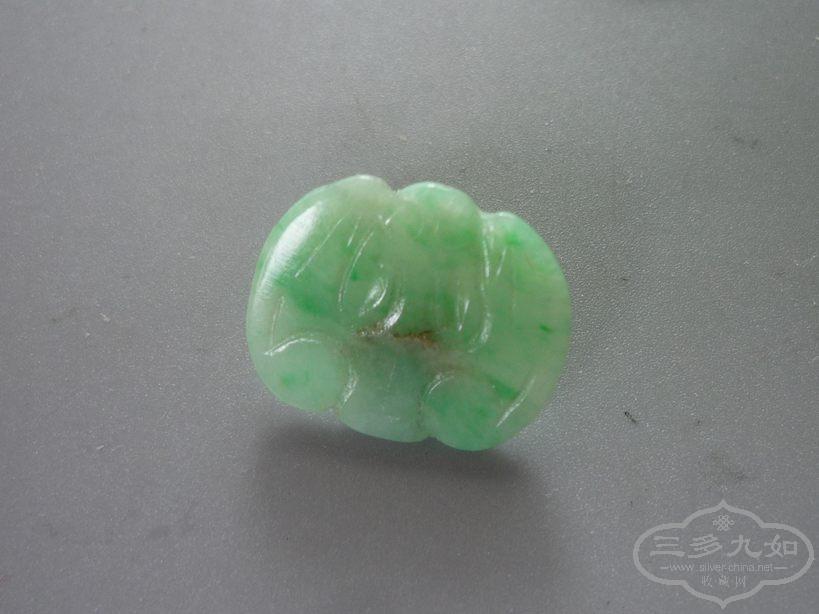 清代 糯種 翡翠 蝙蝠扣子 150