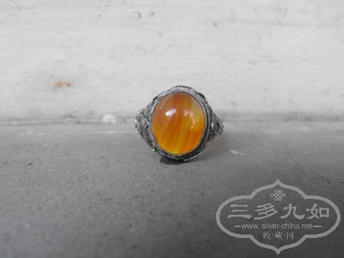 花丝镶嵌玛瑙戒指